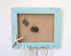 I want to make something like this! Jewelry Organizer Jewelry Holder Beach Decor by TheHopeStack, $32.00