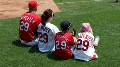 Carp with his family on Fathers Day. ~ photo from the Cardinals facebook page