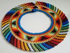 Seed Bead Earrings, Seed Beads, Diy Jewelry, Beaded Jewelry, Maxi Collar, Crochet Necklace, Beaded Necklace, Cali Colombia, Bead Loom Patterns