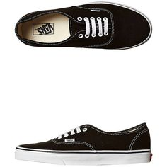 Vans Mens Authentic Shoe Black (100 AUD) ❤ liked on Polyvore featuring shoes, sneakers, vans, black, footwear, womens footwear, canvas sneakers, black canvas sneakers, black shoes and black low tops