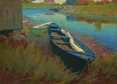 Boats at Rest / Arthur Wesley Dow / c. 1895
