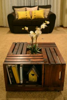 Crate Coffee Table on Etsy, $250.00