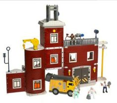 FIRE STATION RESCUE Imaginext Fisher Price Retired Toy Set | evezbeadz.artfire.com ($125 pick up at my home)