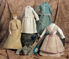 My Life as a Doll: 4 French Porcelain Poupee by Leontine Rohmer