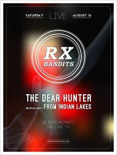 RX Bandits ~ Gas Monkey ~ Dallas #RXBANDITS #RXB #ROCK #THEDEARHUNTER #FROMINDIANLAKES #GASMONKEY #DALLAS #TX #SMOKE