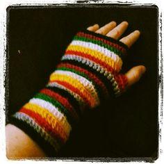 Veelkleurige handschoen.