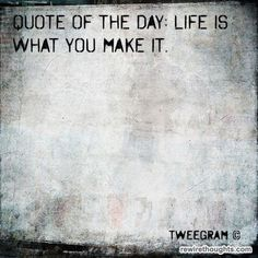 Life Is What You Make It