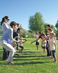 Old-fashioned games, including a water balloon toss, make for multigenerational fun.