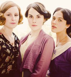 the Crawley sisters - love this shot!