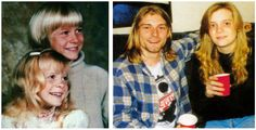 Kurt Cobain with sister Kimberly Dawn Cobain. I think this is my favorite picture of Kurt.