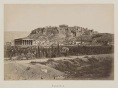 Acropolis, Athens, ca 1890 Temple, Art Asiatique, Greek History, History Of Photography, Archaeological Site, Paris Skyline, Mount Rushmore, Past, Greece