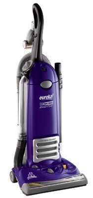 Eureka Boss SmartVac Pet Lover Bagged Upright Vacuum Cleaner, 4870SZ 12 amp upright vacuum cleaner with 15-inch cleaning path for homes with pets. On/off brushroll