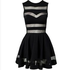 Black mesh Panelling Dress – SEKclothing