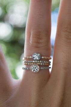One of a kind Dainty vintage Diamond rings by S. Kind & Co.