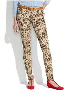 Floral-print pants in neutral tones.  Courtesy of Madewell