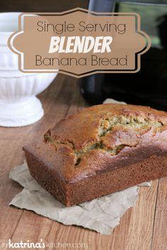 Single Serving Blender Banana Bread