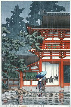 Kasuga Shrine, Nara Series: Landscape Views of Japan II - Kansai Set Kawase Hasui (Japan, Japan, April, 1933 Prints; woodcuts Color woodblock print Image: 14 x 9 in. Paper: 15 x 10 in. x cm) Anonymous gift Japanese Art Japan Illustration, Botanical Illustration, Nara, Art Asiatique, Japanese Aesthetic, Japanese Painting, Chinese Painting, Japanese Artwork, Chinese Architecture