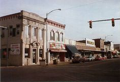 """Main Street, Hobart, Indiana.  There used to be the """"Dime Store"""" that had squeaky wood floors where the Dollar General is now."""