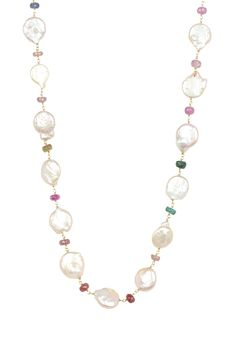 4-11mm Freshwater Baroque Pearl & Sapphire Long Necklace on HauteLook