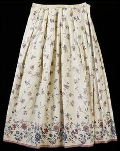 Petticoat Place of origin: Coromandel Coast, India (made) Date: ca. (made) Artist/Maker: Unknown (production) Materials and Techniques: Painted and dyed cotton chintz Credit Line: Given by G. Baker Museum number: Gallery location: In Storage 18th Century Clothing, 18th Century Fashion, 19th Century, Historical Costume, Historical Clothing, Textiles, 1700s Dresses, Victorian Dresses, Classy Outfits