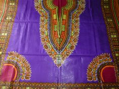 African Fabric Dashiki/Makenzi/Java Wax Print Sold By 2Yards Original From Africa,High Quality Cotton Fabrics. DIMENSIONS: 2 YARDS Long x 46 INCHES Width. Traditional Garments For Dressmaking…