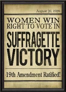 1920 newspaper headlines votes for women - Google Search