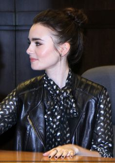 """Lily Collins Lily at the """"Clockwork Princess"""" book tour (March 21st 2013)"""