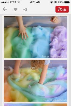 DIY Rainbow Soap Foam Bubbles