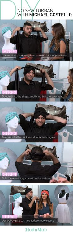 #DIY Turban Tying with Michael Costello - Click the image to watch the video how-to