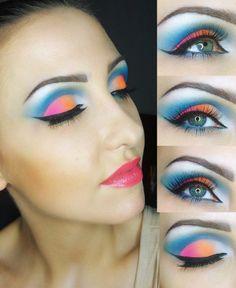 Rainbow Smokey Eye