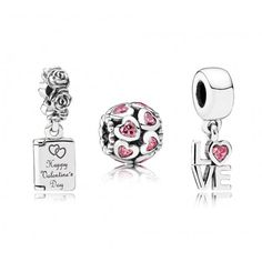 Pandora More Than Words Charm Set