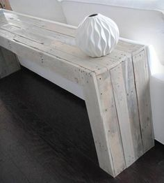 Reclaimed wood, console table