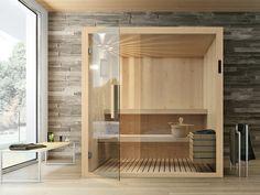 Biosauna KYRA By Gruppo Geromin Bathroom Furniture, New Furniture, Furniture Design, Home Steam Room, Private Sauna, Finnish Sauna, Bathroom Design Inspiration, Home Spa, Industrial Furniture