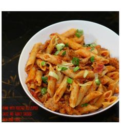 Penne With Roasted Red Pepper Sauce And Turkey Sausage