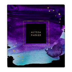 Personalized coasters coaster home gifts ideas decor special bold watercolor splash with faux gold look accents binder negle Images