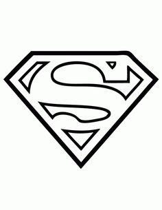 Superman Logo Coloring Page | coloring pages