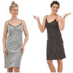 Nachthemd, 100 % Baumwolle, verschiedene Farben und Muster, Größe S-XL