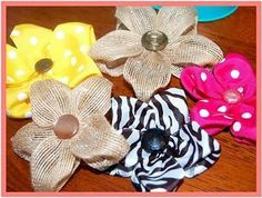 pinterest diy burlap hair bows | DIY Burlap Flower Tutorial