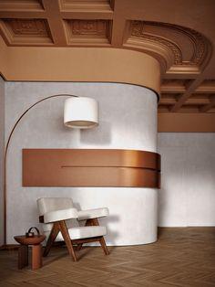Arch Interior, Interior Walls, Modern Interior, Home Interior Design, Interior Styling, Interior Architecture, Interior Decorating, Curved Walls, Ceiling Design