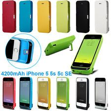4200mAh Iphone 5s 5C SE External Battery Backup Charger Bank Power Case Cover | eBay