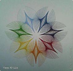 Painting mural drawing Izon Izon Rainbow 2 Cardboard Threads 1 photo