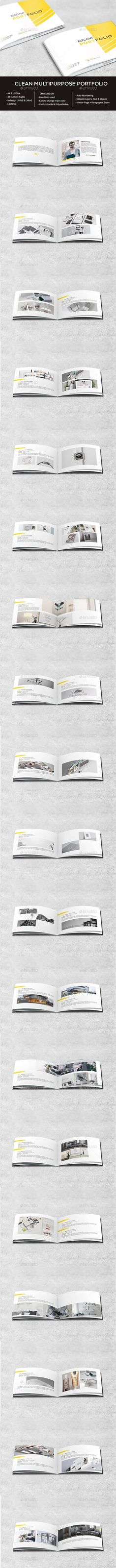 Clean Portofolio Portfolio Brochure Template by wpservicios. Design Brochure, Travel Brochure, Business Brochure, Brochure Template, Print Design, My Design, Print Templates, Design Templates, Designs To Draw