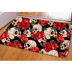Skull Print Non-slip Rug - Skullflow  https://www.skullflow.com/collections/skull-carpets/products/skull-print-non-slip-rug
