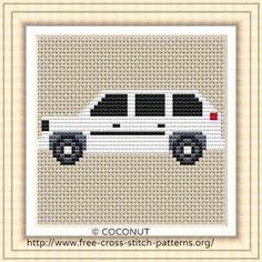 Free cross stitch pattern: Car 1,Free cross stitch pattern