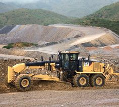 Cat 16M motor grader working hard at a mine. #Catmachines