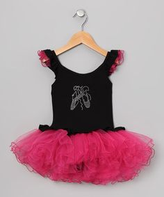 Take a look at this Black Rhinestone Skirted Leotard - Infant & Toddler by Seesaws & Slides on #zulily today!