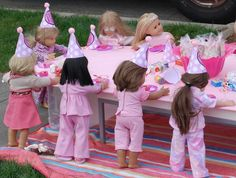 American Girl Birthday Party Ideas | Photo 1 of 39 | Catch My Party