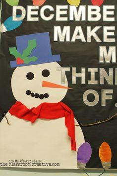 Winter bulletin board idea!! #winter #bulltin board