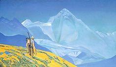 Charaka, 1932 by Nicholas Roerich. Symbolism. history painting