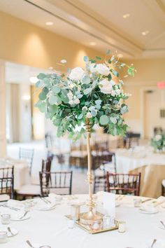 Awesome Gold Candlestick Centerpiece Receptions For Luxurious Wedding Eucalyptus Centerpiece, Candlestick Centerpiece, Greenery Centerpiece, Tall Wedding Centerpieces, Flower Centerpieces, Wedding Decorations, Centrepieces, Pink And Gold Wedding, Floral Wedding